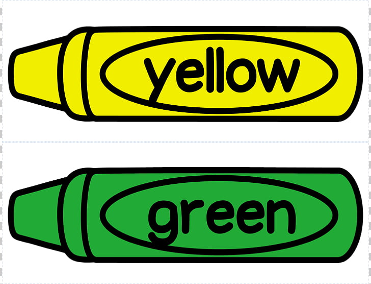 Crayon Colored pencil Crayola , Green Crayon s, yellow and.