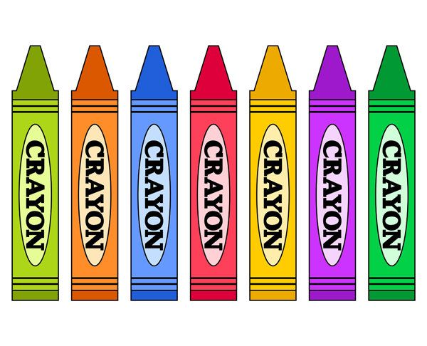 Crayons clipart 2.