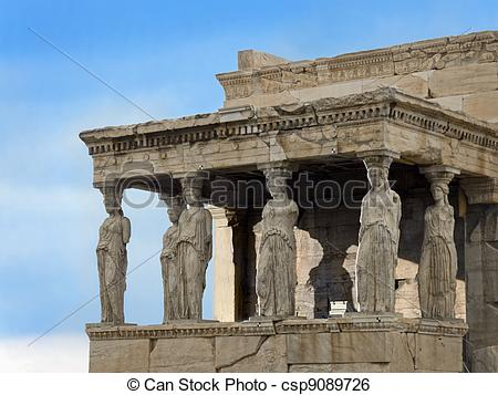 Stock Image of Porch of Maidens.