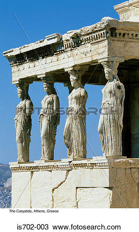 Stock Photo of The Caryatids, Athens, Greece is702.