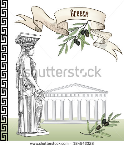 Caryatids Vector Stock Photos, Royalty.