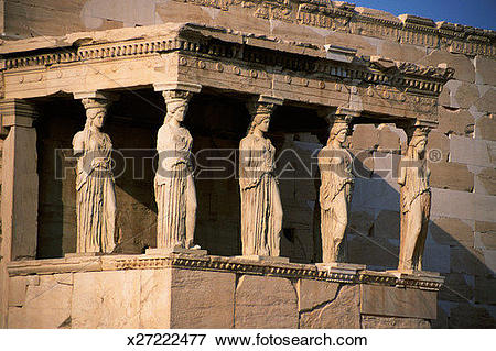 Picture of Porch of the Caryatids at The Erechteion at the.