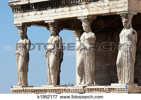 Picture of erechteum caryatids k1952177.