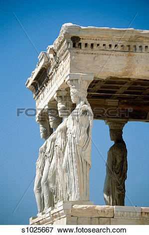 Picture of Low angle view of Caryatids, Acropolis Erecteion.