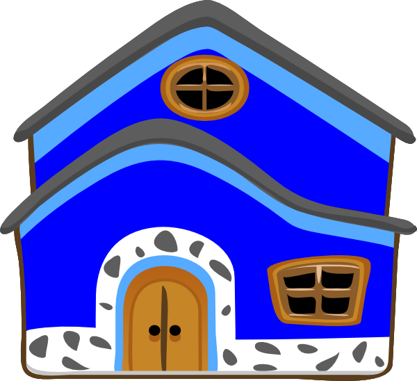 Casa Azul Blue House Clip Art at Clker.com.