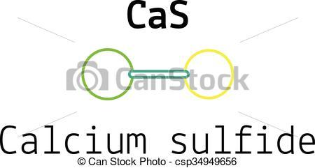 CaS calcium sulfide molecule.