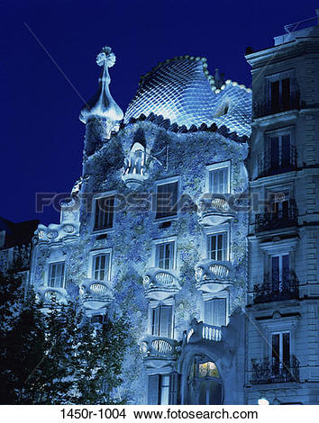 Stock Photo of Casa Batllo, Barcelona, Spain 1450r.