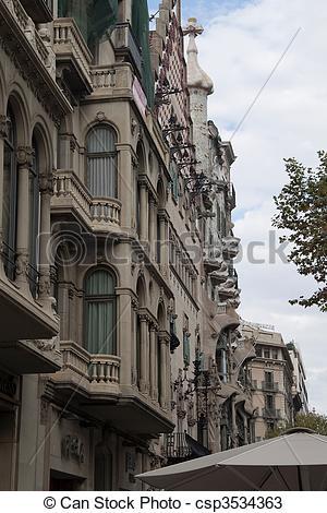 Drawings of Casa Batllo in Barcelona, Spain by architect Gaudi.
