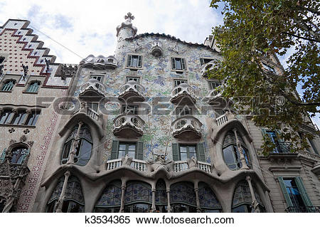 Stock Illustration of Casa Batllo k3534365.