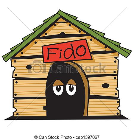 Vectors Illustration of Dog house clip art graphic. csp1397067.