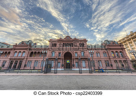 Stock Photographs of Casa Rosada building in Buenos Aires.