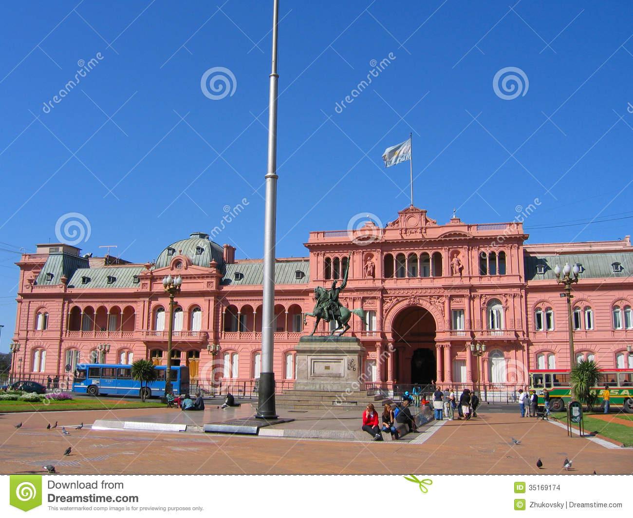 Casa Rosada In Buenos Aires, Argentina Editorial Stock Image.