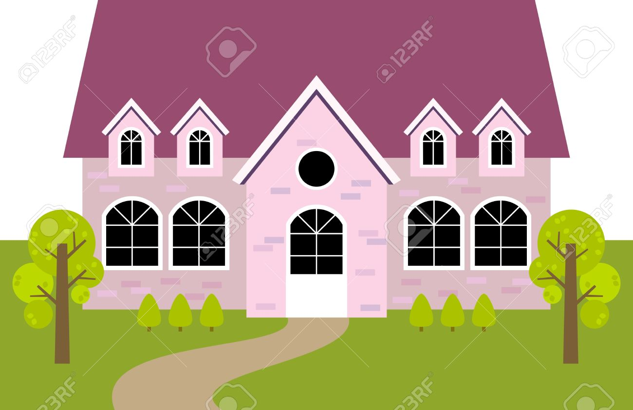 Pink House Royalty Free Cliparts, Vectors, And Stock Illustration.