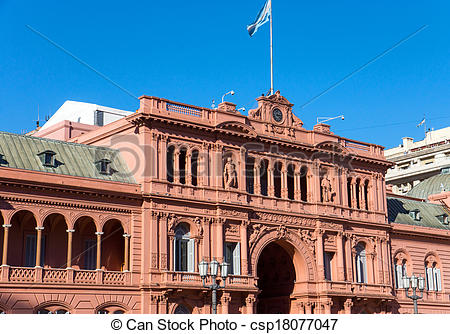 Stock Photo of Detail of the Casa Rosada in Buenos Aires.