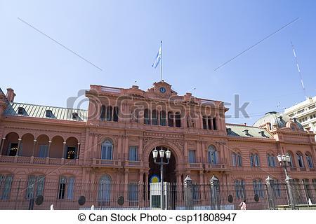 Stock Photo of Casa Rosada (Pink House) Presidential Palace of.