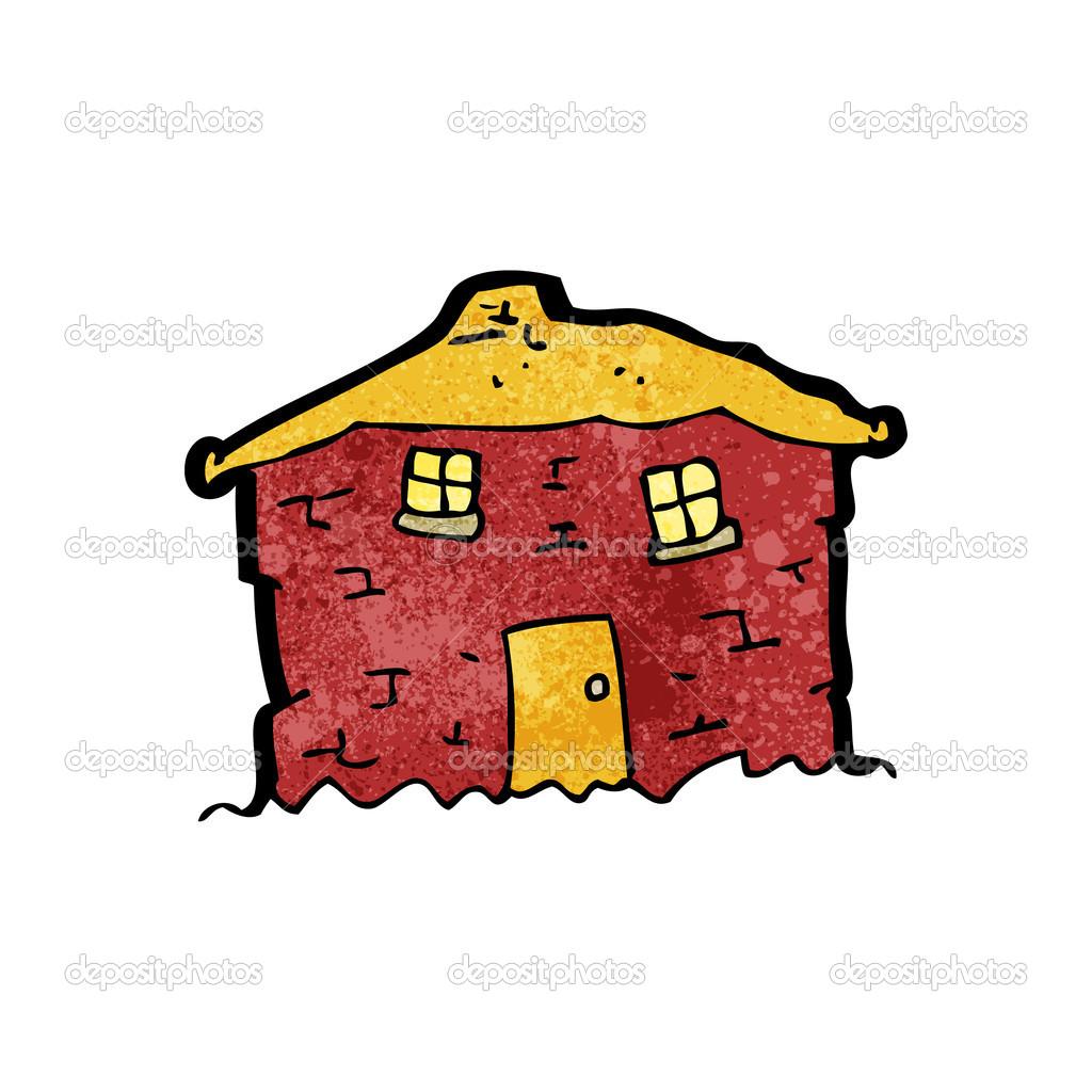 Dibujos animados de casa vieja Tumbledown — Archivo Imágenes.