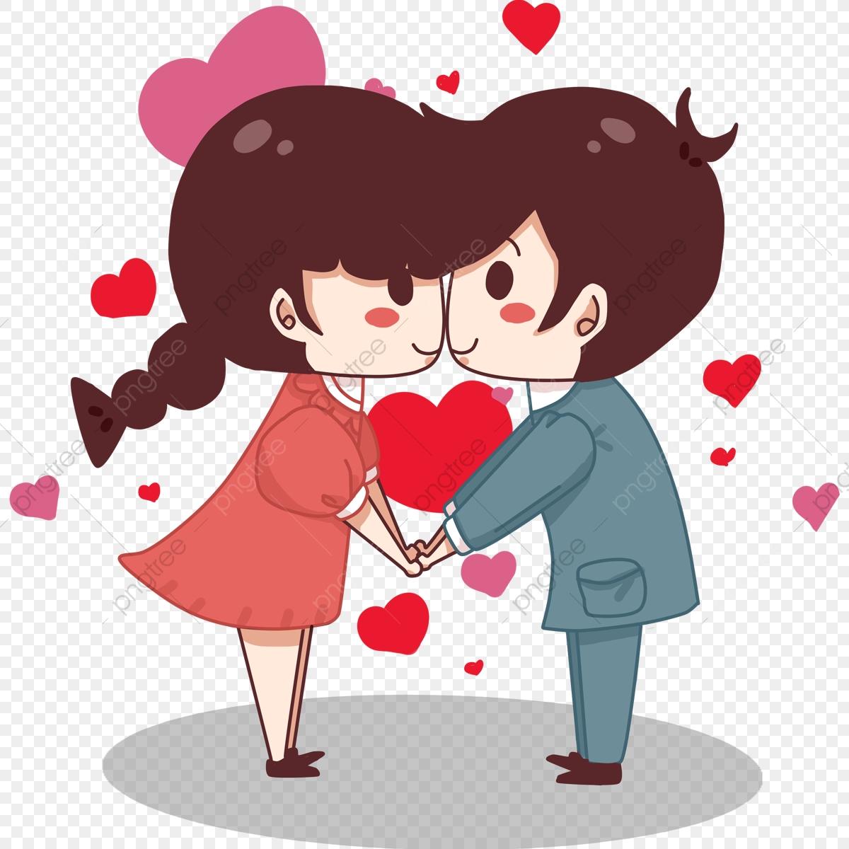 Dia Dos Namorados Desenho Casal, O Personagem, Casal, No Amor.