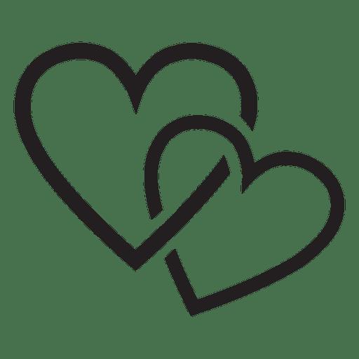 Casal de logotipo do coração.