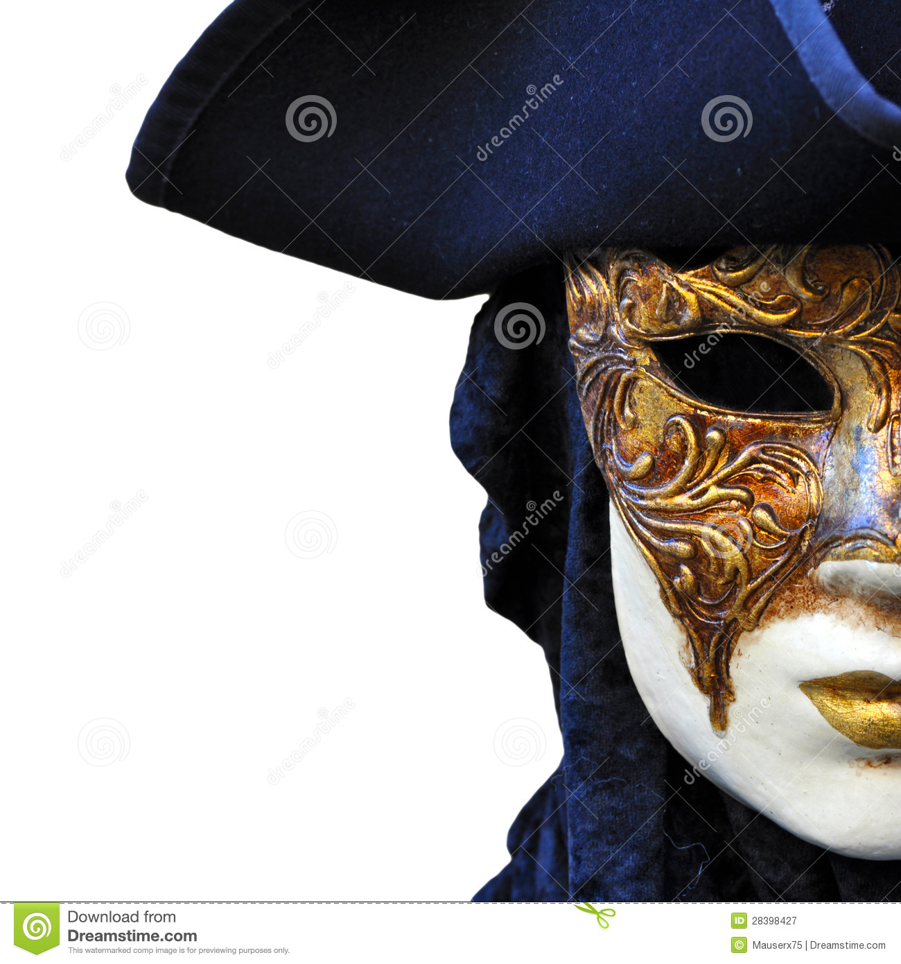 Casanova Mask Stock Images.