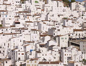 Stock Photo of Casares Village, Traditional Spanish White village.
