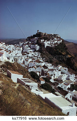 Stock Images of Costa Del Sol, Casares, Spain ks77916.