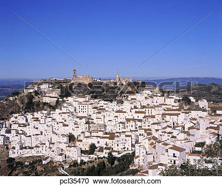 Stock Photography of Casares, White Villages of Andalucia, Spain.