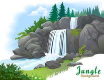 Waterfall Stock Illustrations.