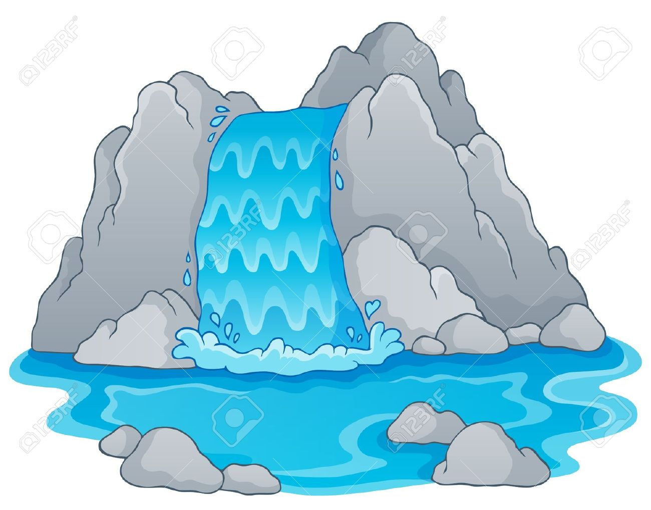The fall of the water clipart #16