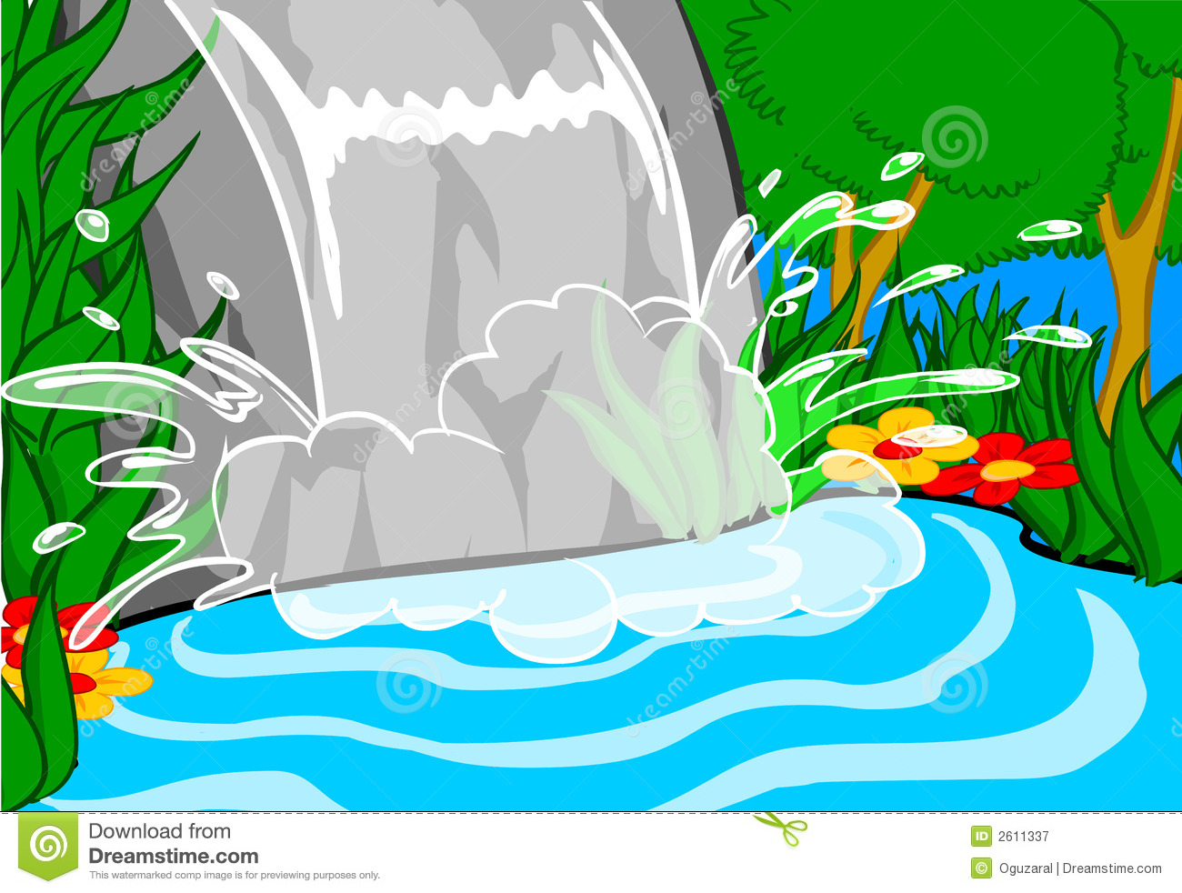 The fall of the water clipart #9