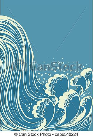 Vettore EPS di blu, acqua, cascata, vettore, fondo, onde.