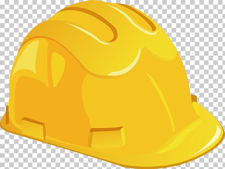 Casco casco, casco amarillo PNG Clipart.