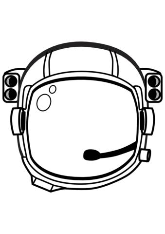 Dibujo de Casco de Astronauta para colorear.