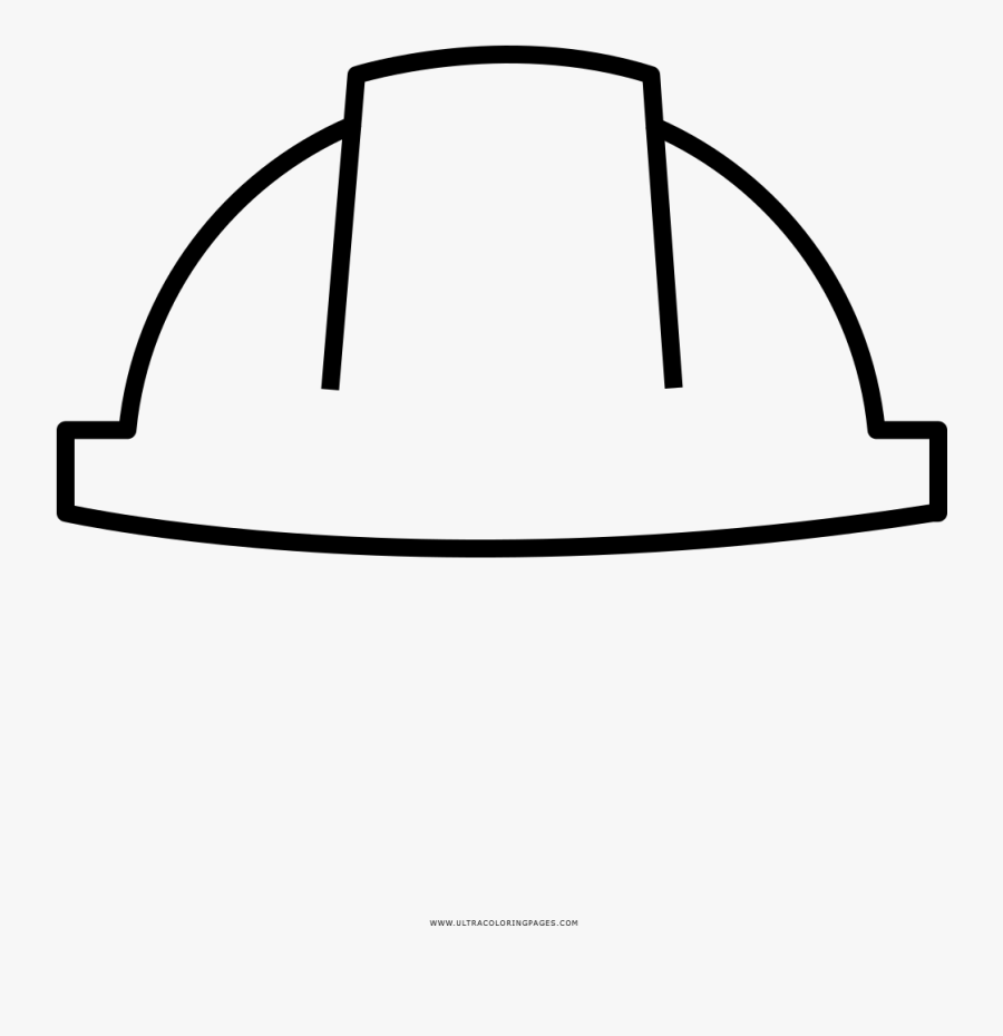 Hard Hat Coloring Page.