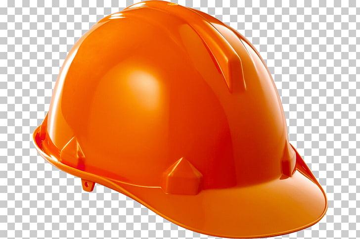 Casco de soldadura color naranja azul, casco de seguridad.