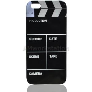 Retro Movie Clapper Board Clip Art Hard Case Protective Cove.