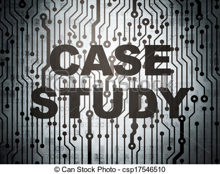 Clipart of Education concept: circuit board with Case Study.