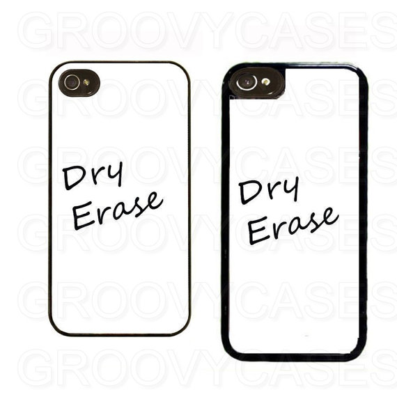 iPhone 5 5s 5c SE Case Rubber Dry Erase Board by GroovyCases.
