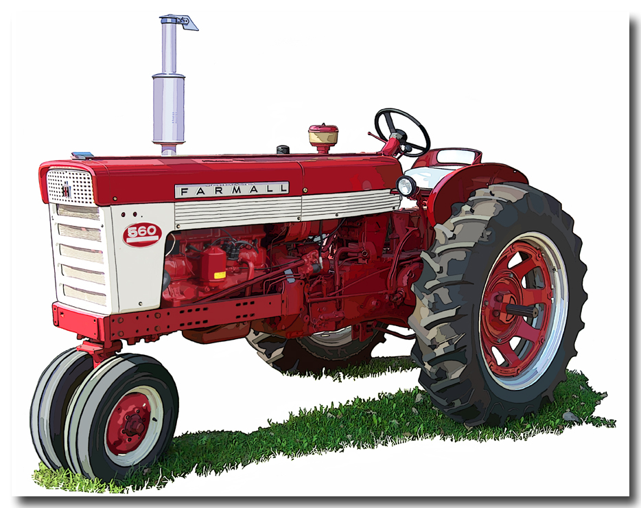 International Farmall Tractor Clipart.