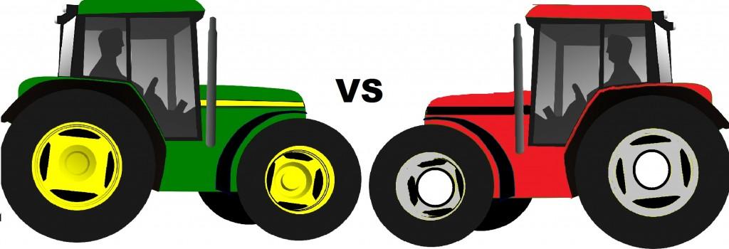 John Deere vs Case IH.