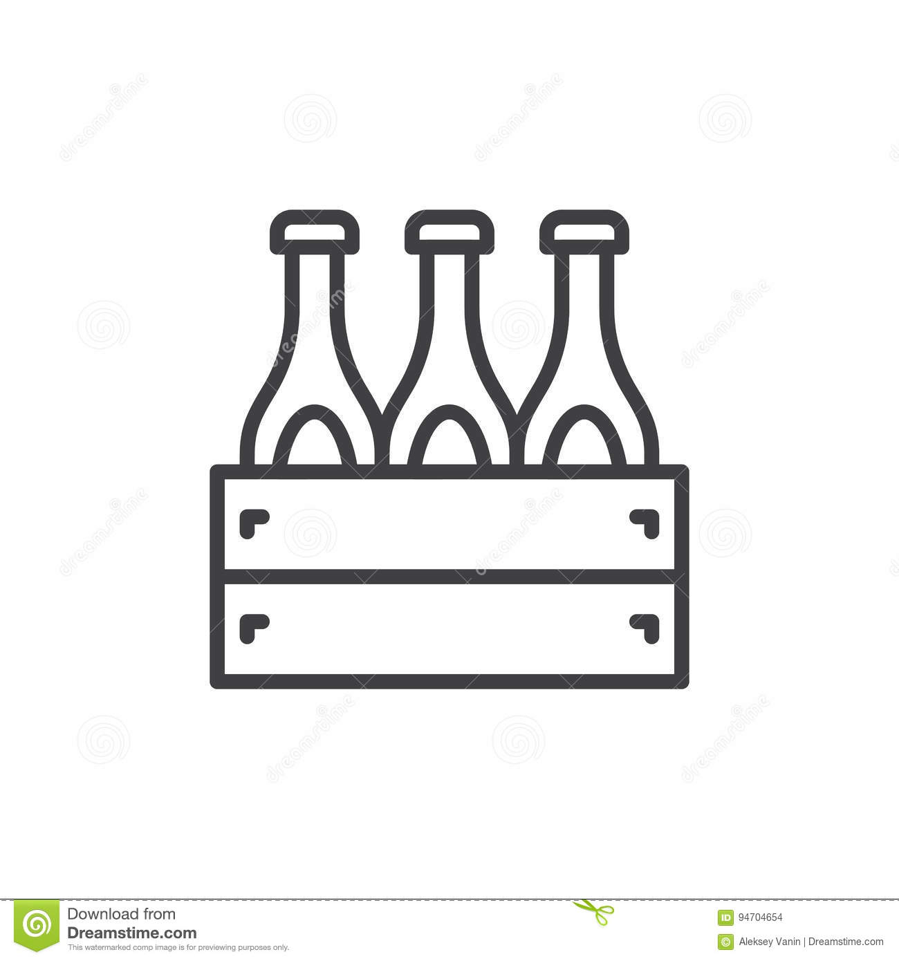 Case Of Beer Line Icon, Outline Vector Sign, Linear Style Pictogram.