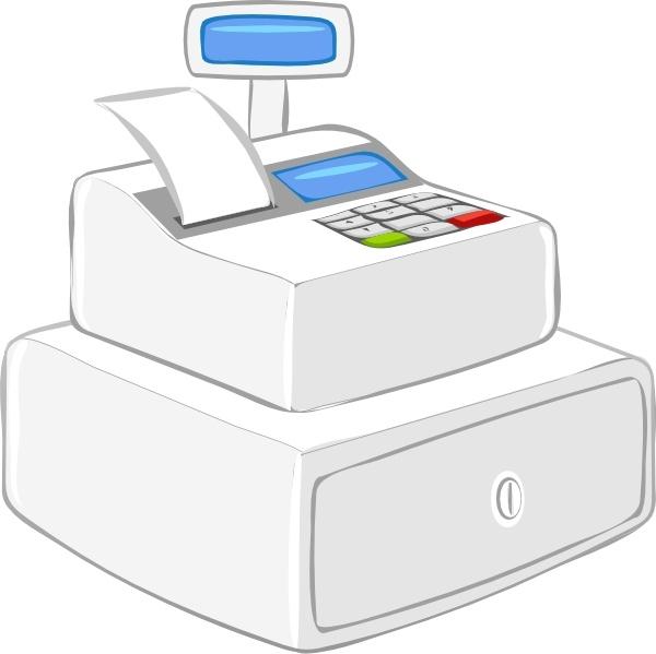 Cashier Case Calculator clip art Free vector in Open office.