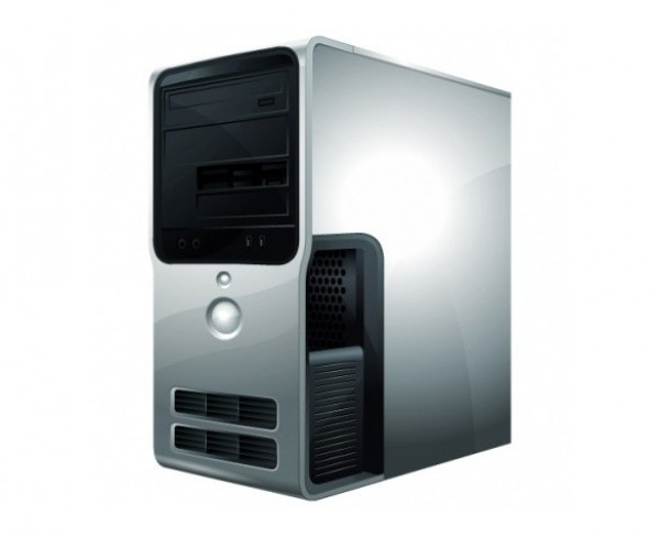 Download Free png Realistic Grey Computer Case Vista Icon PNG.