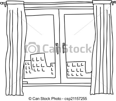 Clipart Vector of Black Outline Windows.
