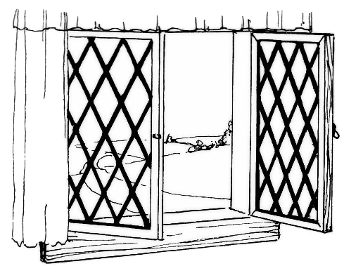Black and white window clipart.