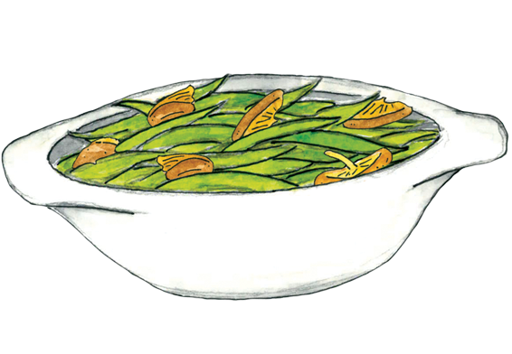 Green Bean Casserole Clipart.
