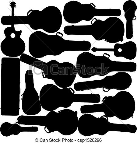 Guitar and case clipart - Clipground