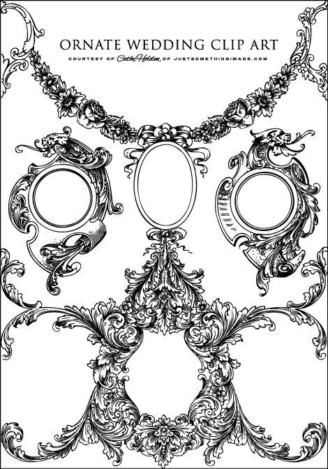 art nouveau engraving.