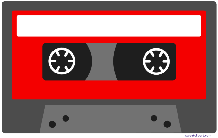 Red Cassette Tape Clipart.