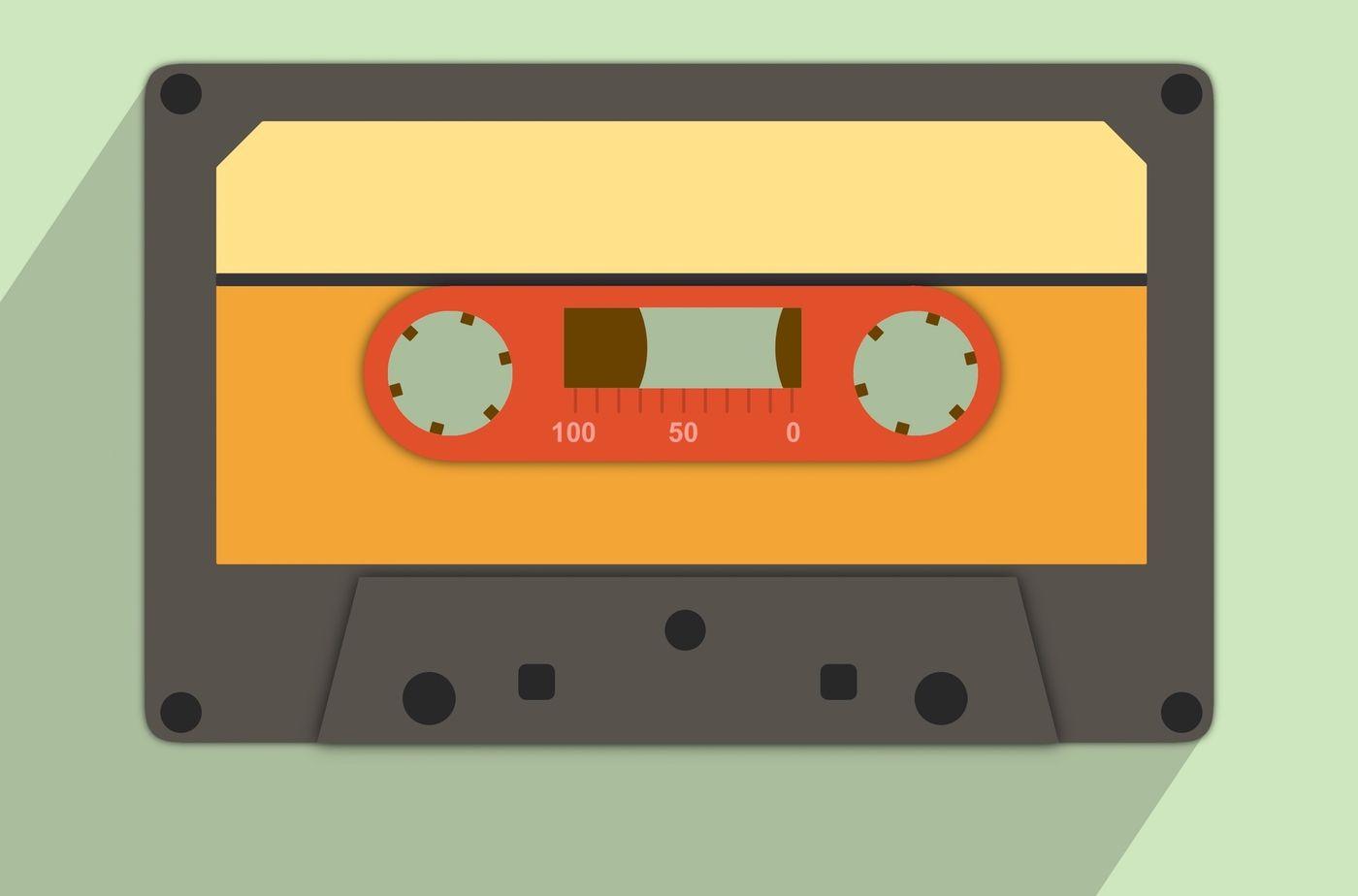 Retro cassette clipart By Paper Farms.