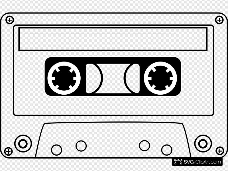 Cassette Clip art, Icon and SVG.